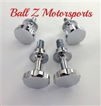 4 Custom Chrome Ball Cut Cargo Bolts & Passenger Grab Bar Frankenstein Bolts