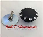 Black Anodized Silver Ball Cut Frame Shock Access Plug