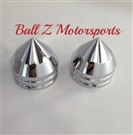 Hayabusa, GSXR 1000, TL1000R,  ZX-12, R1 Smooth Bullet Spike Chrome 30mm Fork Caps
