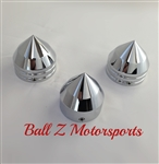 Hayabusa Chrome Smooth Bullet Spike 30mm Fork Caps w/Center Yoke Cap