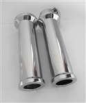 Hayabusa Custom Billet Smooth Chrome Handlebar Grips
