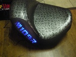 Suzuki M109R Custom  Shaped and Covered Blue LED Loglow Lighted Gator Seat Exchange
