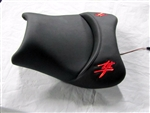 """New Image"" Custom Hayabusa Loglow Red LED Driver Seat"