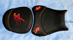 """New Image"" Custom Hayabusa Loglow Red LED Driver & Passenger Seat"