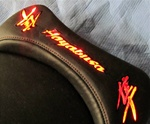 """New Image"" Custom Hayabusa Loglow Red LED Driver Seat Exchange"