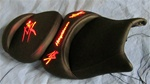 """New Image"" Custom Hayabusa Loglow Red LED Driver & Passenger Seat Exchange"