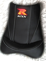 """New Image"" Custom GSXR 600/750/1000 Red Loglow Carbon Fiber Front Seat"