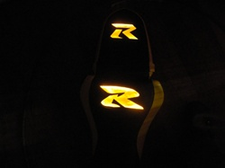 """New Image"" Custom GSXR 600/750/1000 Yellow Loglow Front Seat"