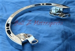 Hayabusa Engraved Chrome Rear Passenger Grab Rail/Bar
