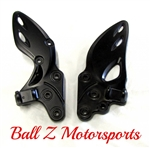 08-13 Hayabusa Black Powder Coated OEM/Stock Front Peg Brackets Outright, Exchange or Deposit