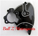 08-13 Hayabusa Black/Silver Ball Cut OEM/Stock Front Sprocket Cover