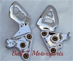 99-07 Hayabusa Ball Cut & Chromed Stock/OEM Front Foot Peg Brackets