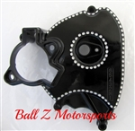 99-07 Hayabusa Black/Silver Ball Cut OEM/Stock Front Sprocket Cover