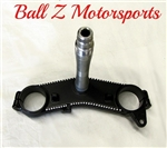 99-07 Hayabusa Black Powder Coated & Silver Ball Cut OEM/Stock Lower Triple Tree