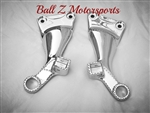 99-07 Hayabusa Ball Cut Edges & Chromed Stock/OEM Rear Foot Peg Brackets