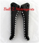 1999-2007 Hayabusa Black Powder Coated & Ball Cut OEM/Stock Rear Foot Pegs