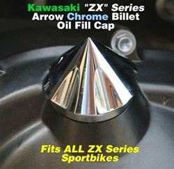 Bling Bling Chrome Kawasaki Spike Oil Filler Cap