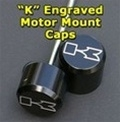 Black Contrast! ZX14 Black Anodized Billet Motor Mount Bolt Cover Kit