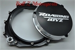 ZX-14 - ZX-14RCustom Black Anodized & Silver Contrast Cut Quick Access Clutch Cover