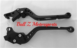 Hayabusa SV/TL Long Black Adjustable PAZZO Brake & Clutch Lever Set