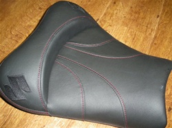 Custom GSXR 600/750/1000 Front Seat Black w/Red Stitching