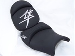 Custom Hayabusa Black/Chrome Embroidered Front & Rear Seats