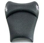 """New Image"" Custom Shaped/Covered Black Ostrich Hayabusa Driver Seat w/Chrome Embroidering!"