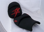 "Black with Orange Embroidered Kanji Logos ""New Image"" Custom Driver and Passenger Seats"