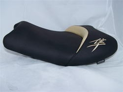 """New Image"" Hayabusa Custom Shaped Front Seat w/Tan Riser & Embroidering"