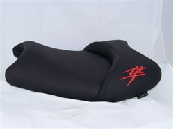 """New Image"" Custom Shaped & Covered Hayabusa Front Seat w/Orange Embroidering"