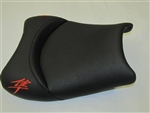 """New Image"" Custom Shaped/Covered Hayabusa Front Seat w/Orange Embroidering"