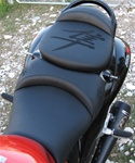 Custom Hayabusa Black on Black Embroidered Front & Rear Seats