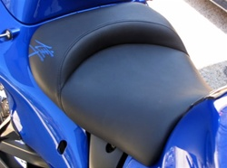 Custom Shaped Hayabusa Front Seat w/Blue Embroidering