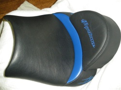 """New Image"" Custom Front Seat Black/Blue w/Hump Pad"