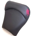 Hayabusa Custom Shaped & Covered Drag/Show Embroidered Red Front Seat!