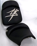 Custom Hayabusa Black w/Chrome Embroidering Front & Rear Seats