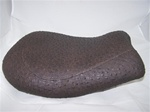 """New Image"" Dished Custom Dark Brown Ostrich Driver Seat"