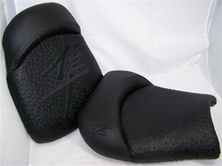 """New Image"" Hayabusa Front & Rear Seats Black Ostrich w/Black Embroidering"
