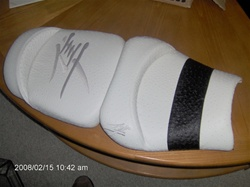 Hayabusa Front & Rear Seats White/Black Ostrich & Silver Embroidering