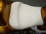 """New Image"" Custom Shaped Hayabusa White Ostrich Front Seat"
