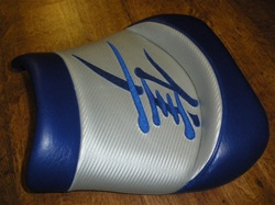 """New Image"" Blue/Silver Custom Shaped Hayabusa Front Seat"
