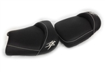 Custom Hayabusa Black/Chrome Front & Rear Seats
