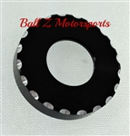 Suzuki Sportbike Black/Silver Ball Cut Tail Lock Cover