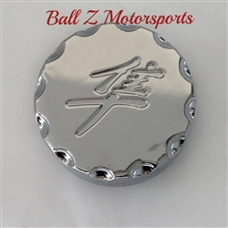 Hayabusa Chrome Pocketed Engraved Stem/Yoke Cap w/Ball Cut Edges