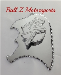 Hayabusa Chrome 3D Engraved & Ball Cut Front Sprocket & Speed Sensor Cover