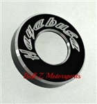 Hayabusa Black/Silver Engraved & Ring Cut Tail Lock Cover
