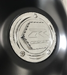 Custom 08+ Hayabusa GSXR 600/750/1000 Chrome Engraved Gas Cap Fuel Lid w/Ball Cut Edges