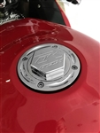 Custom 99-07 Hayabusa GSXR 600/750/1000 Chrome Engraved Gas Cap Fuel Lid w/Smooth Edges