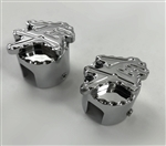 Hayabusa Chrome Engraved 3D Hex Brake & Clutch Mastercylinder Line Banjo Bolt Covers w/Ball Cut Edges