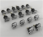 17PC 2008-2017 Hayabusa Custom Black/Silver 3D Engraved & Ball Cut Complete Fairing Bolt Kit w/Stainless Steel Threads